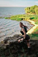 Lara Croft Underworld - what a windy day! by TanyaCroft