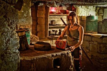 Lara Croft REBORN cosplay - found a relic by TanyaCroft