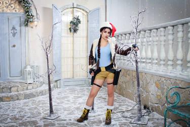 Christmas Lara Croft cosplay - festive yard by TanyaCroft