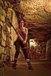 Lara Croft REBORN cosplay - with gun