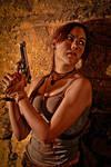 Lara Croft REBORN cosplay - ambush