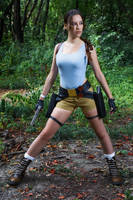 Lara Croft CLASSIC cosplay - WeGame 2-9 by TanyaCroft