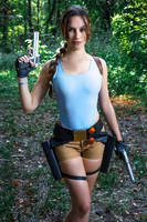 Lara Croft CLASSIC cosplay - WeGame 2-11 by TanyaCroft