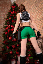 Christmas Lara Croft cosplay - dat ass xDD by TanyaCroft