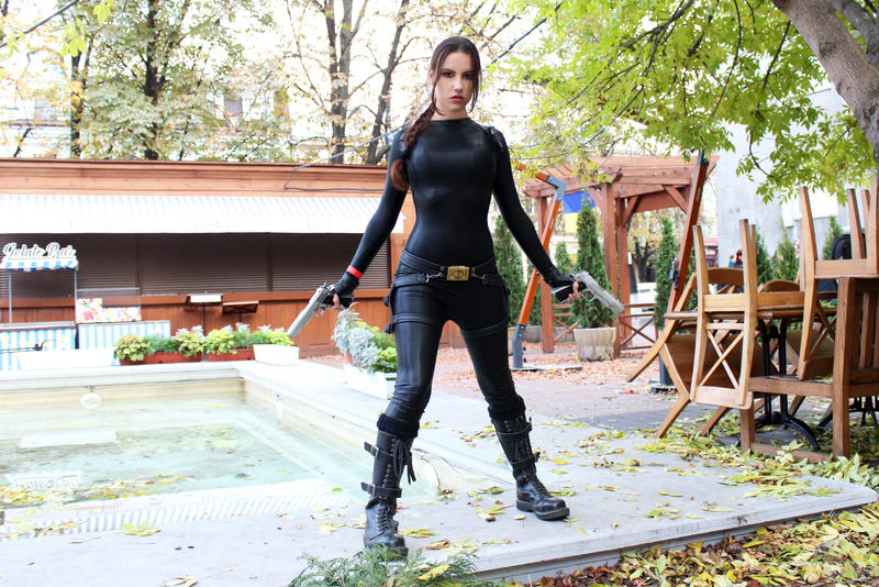 Tomb Raider Anniversary catsuit 8 by TanyaCroft