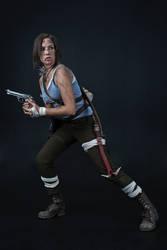 Lara Croft REBORN cosplay - studio 1 by TanyaCroft
