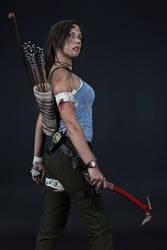Lara Croft REBORN cosplay - studio 2 by TanyaCroft