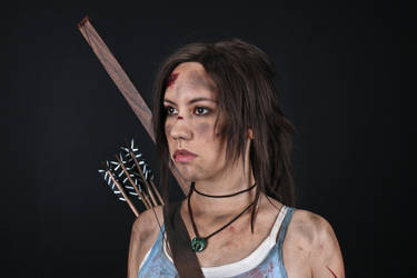 Lara Croft REBORN cosplay - studio 4 by TanyaCroft