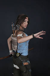 Lara Croft REBORN cosplay - studio 8