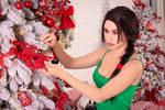 Christmas Lara Croft cosplay (8)