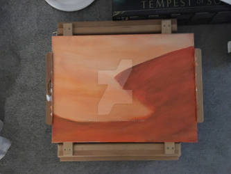 Oil abstract painting