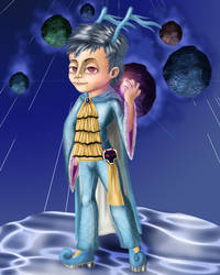 Kingdra Gijinka by apotropaic-puppet