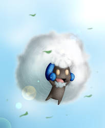 Whimsicott by apotropaic-puppet