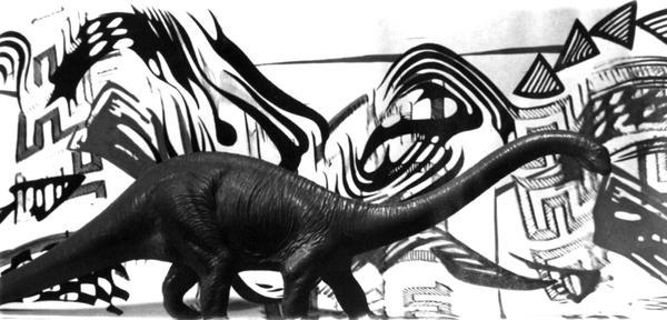 Dinosaur geometric background by volioti