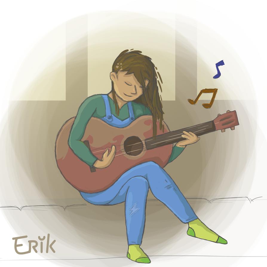 Guitar Girl by ErikOu
