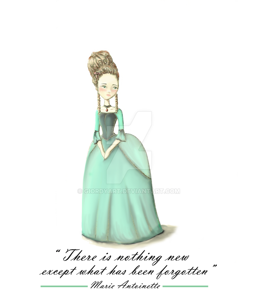 Marie Antoinette by giordyart