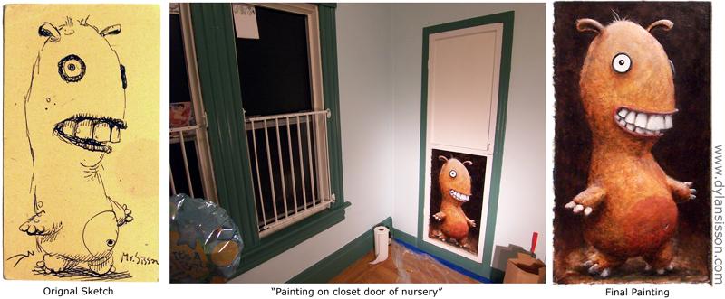 Cute or Scary? Nursery Art by Mr-Sisson