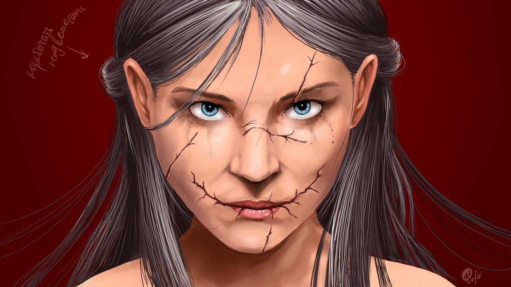 scars face by BeshAniyZayka