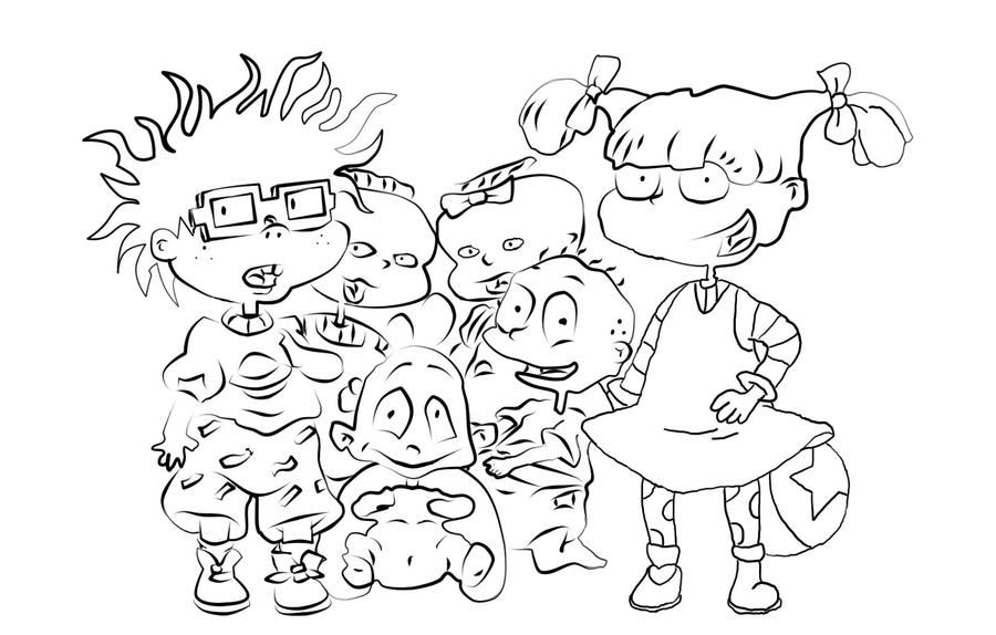 Rugrats Coloring Pages Kimi - intellego