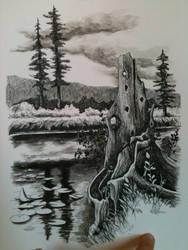 Yellowstone Landscape by hannbanan165