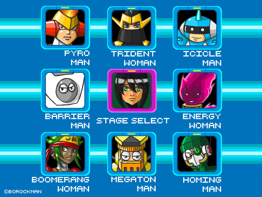 Jet Woman Stage Select by borockman