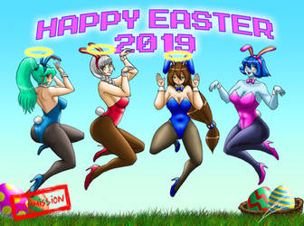 Commission: Happy Easter 2019 by borockman