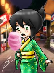 Jet Woman Yukata