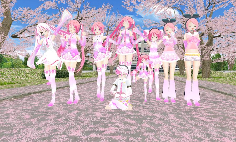 Api sakura models by KasaneTeto2