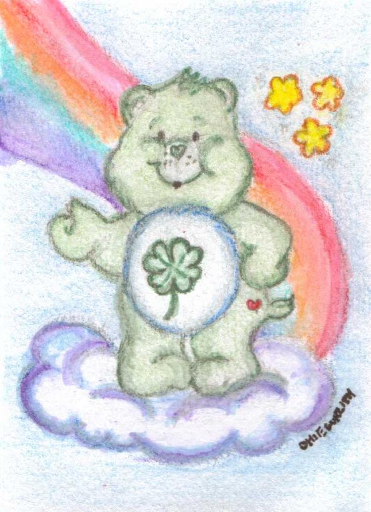 Good Luck Care Bear Good Luck Bear Atc by