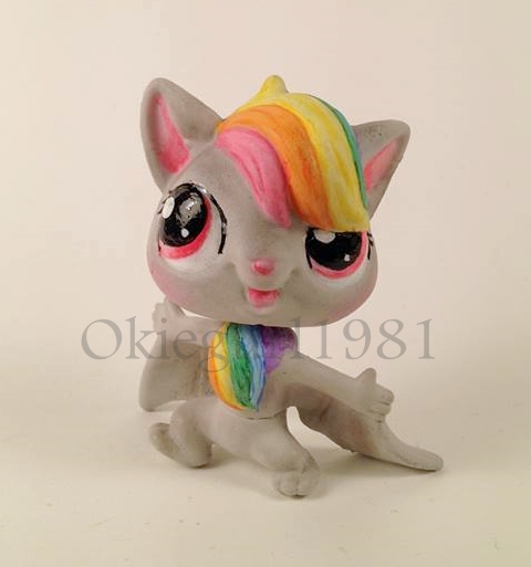Custom Lps Rainbow Bat by okiegurl1981