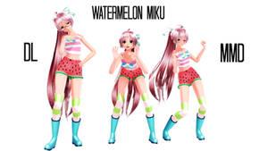 [DL] MMD Watermelon Miku