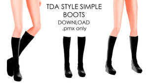 TDA STYLED SIMPLE BLACK BOOTS DL