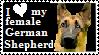 Female German Shepherd Stamp by LexiDog01