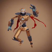 Skater Robot (rigged) by wildman1411
