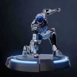 Superhero landing / Robot character RTS01