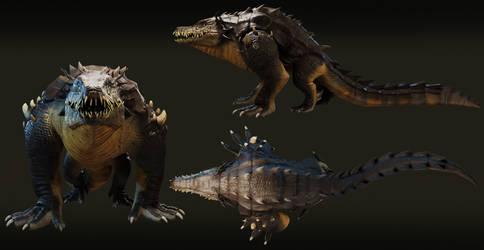 Crocorilla / Details / 3D Creature model