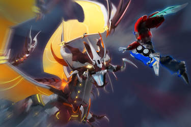 Predaking vs Optimus / Transformers Prime
