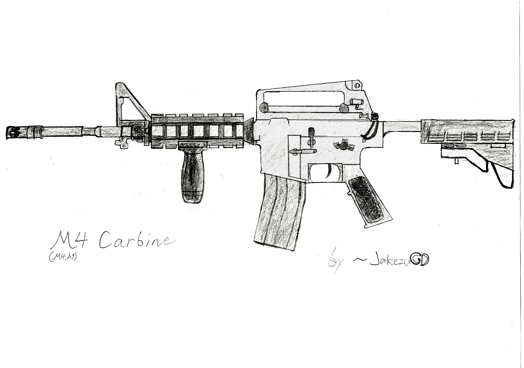 m4a1 coloring coloring pages