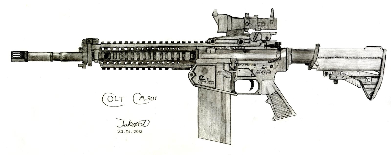 Colt Cm901 By Jakezugd On Deviantart