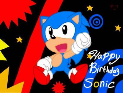 Happy 26th Sonic! by EmilyTheHedgehog1000