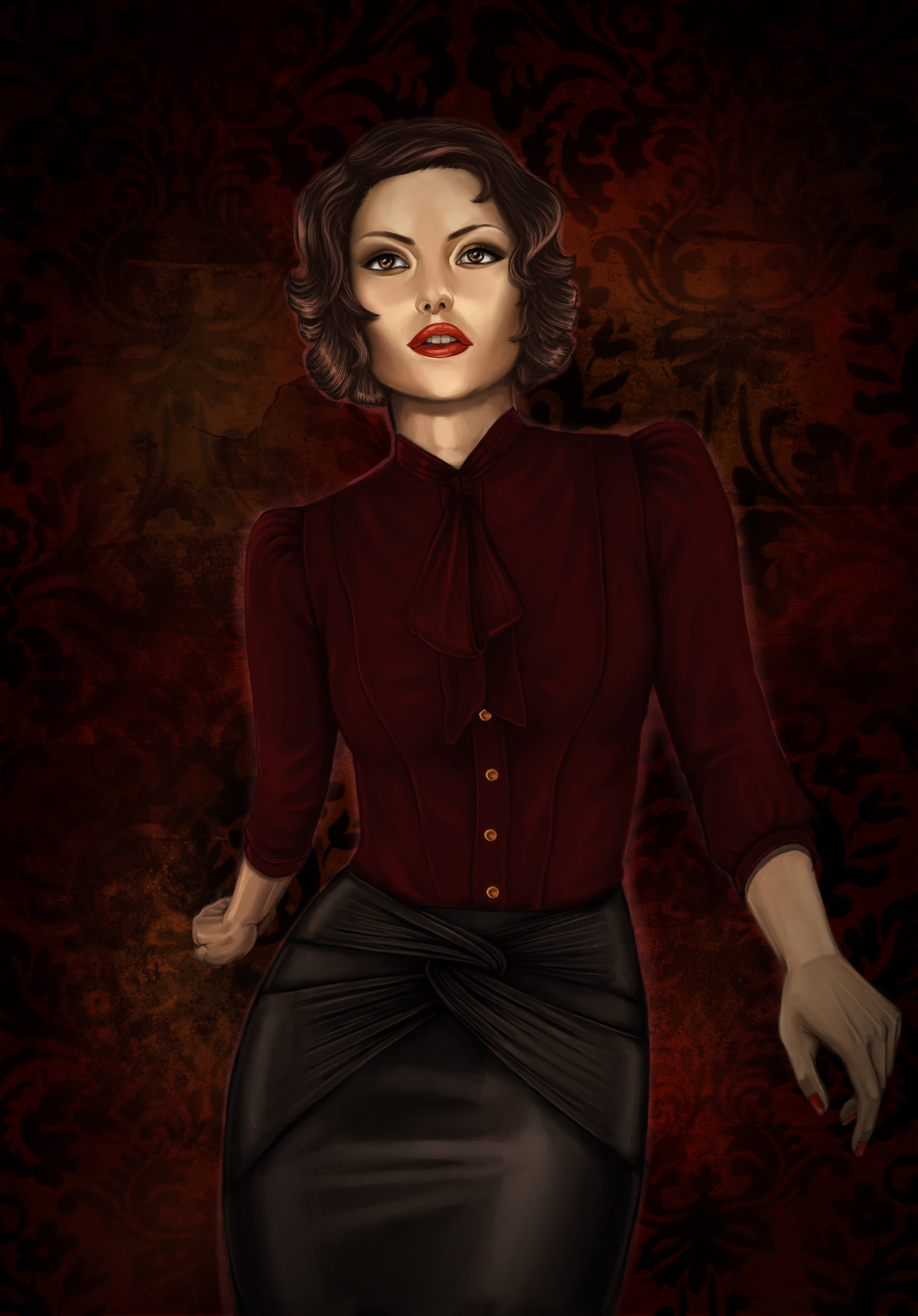 Lady in Red by kindnessisacardgame