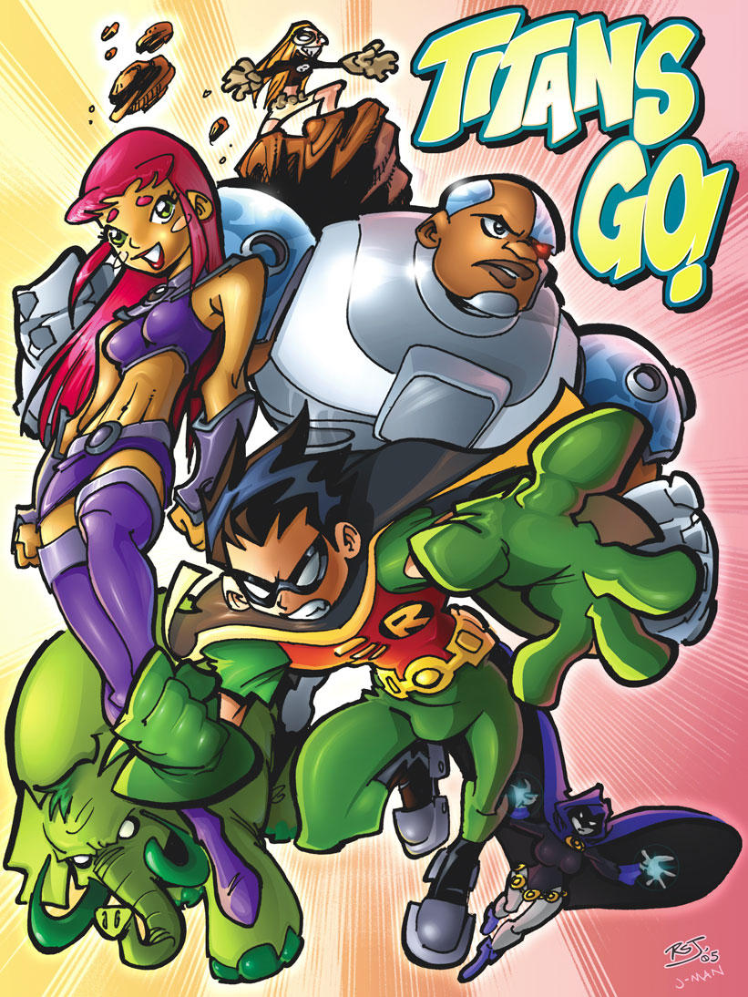 Teen Titans GO - RSJ and Jman by jman2004