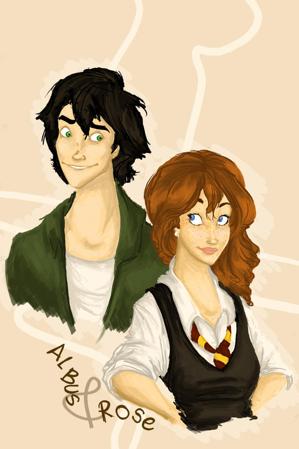 Albus and Rose by MioneBookworm