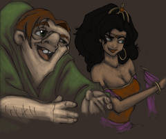 Hunchback Sketches by MioneBookworm