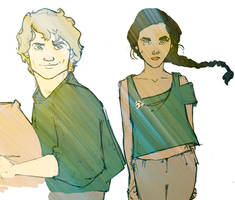 Katniss Peeta by MioneBookworm