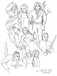 The Hunger Games sk by MioneBookworm