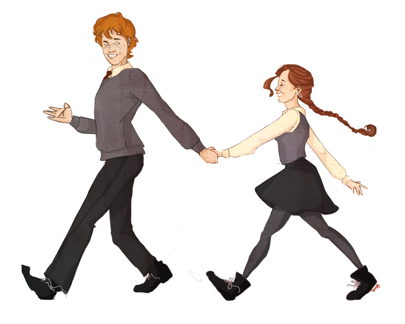 Lissy and George by MioneBookworm
