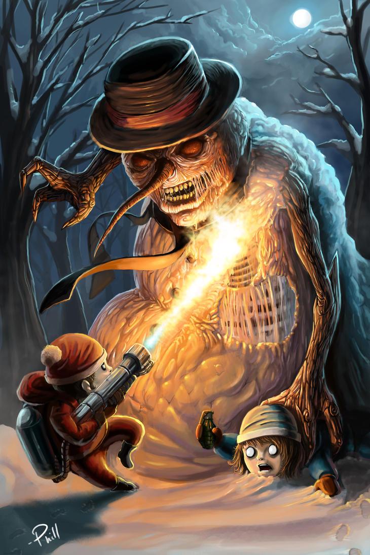 Scorching the Evil Snowman by Jackaloftrades