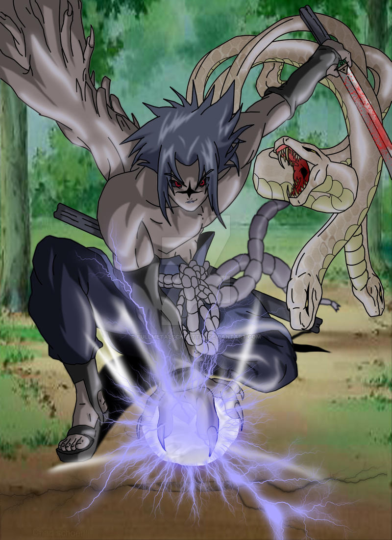 cursed seal sasuke by fullmetalschoettle on DeviantArt