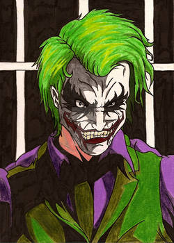 THE JOKER cartoon ledger
